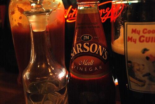ocet w butelkach