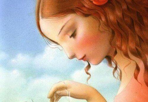 dziewczynka pociąga za sznurki