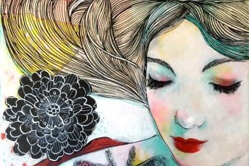 Kobieta z kwiatami - prawdziwe szczęście