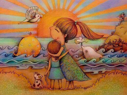 matka córka i pies