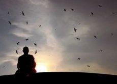 Medytujący mnich - cisza
