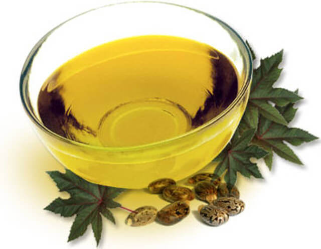 olej rycynowy w misce