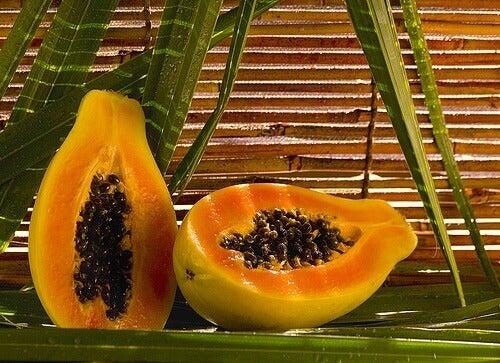 przekrojona papaja