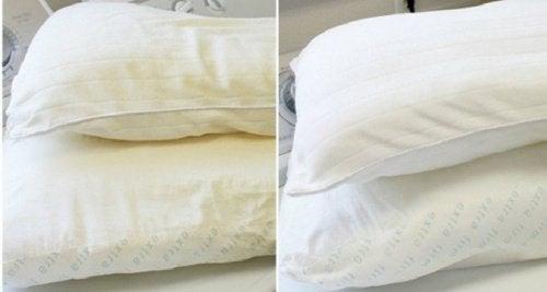 Pożółkłe poduszki