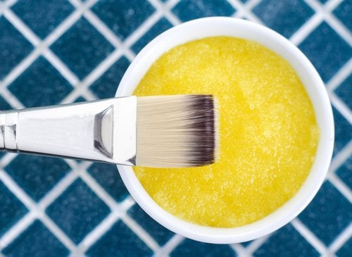 Żółta maseczka