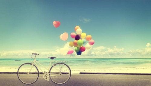 Rower z balonami
