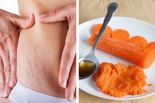 Rozstępy i lekarstwo z marchewki