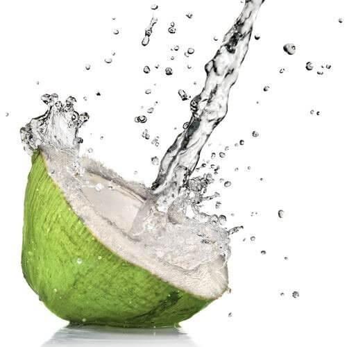 Łyk wody kokosowej