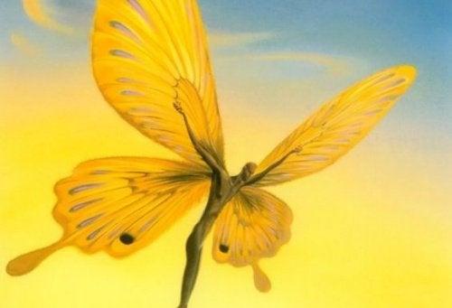 człowiek motyl