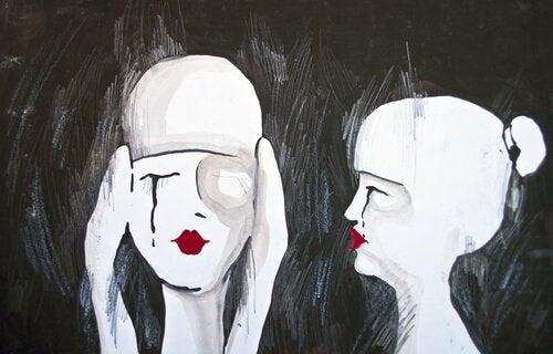dwie smutne osoby