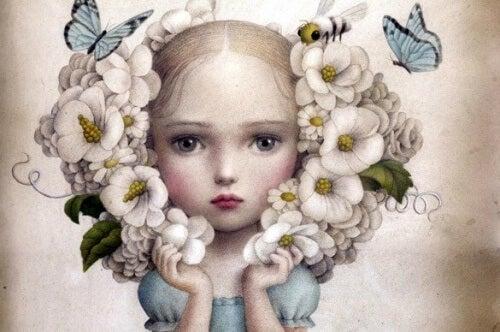 Dziewczynka z wiankiem