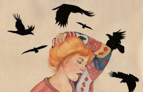 Kobieta i wrony