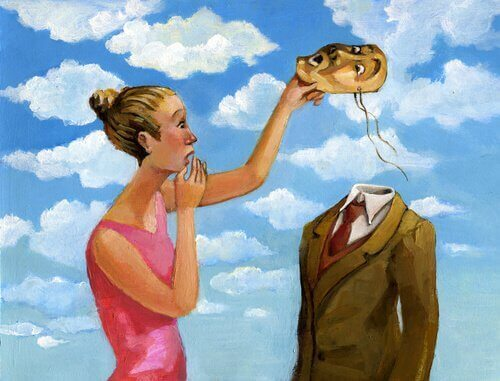 Kobieta i mężczyzna z maską