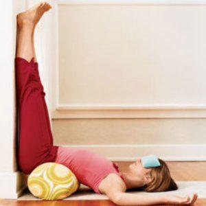 Ćwiczenia relaksacyjne: nogi do góry