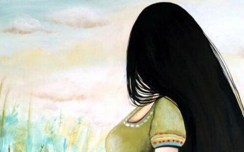 Kobieta odwrócona plecami - nie dawaj za wygraną