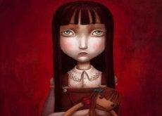 Smutna dziewczynka - brak czułości