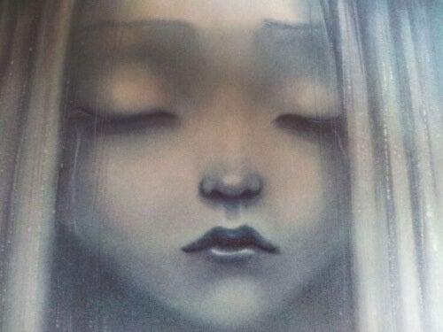 Smutna twarz dziewczynki