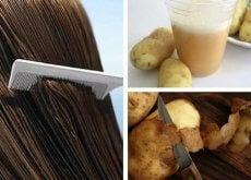 Włosy - sok z ziemniaka