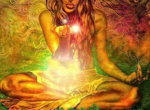 wolny duch i światełko w ręku