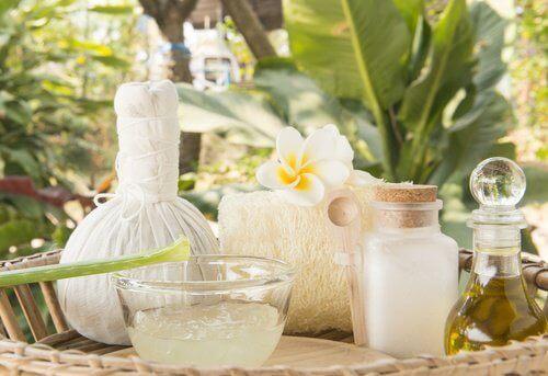 aloes i olej kokosowy