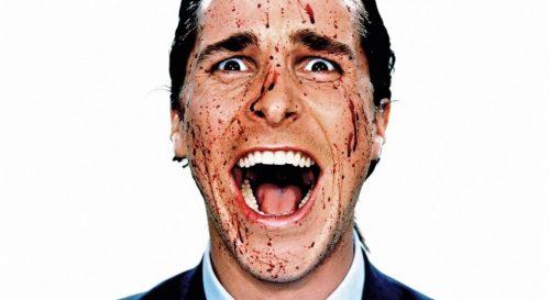 facet z krwia na twarzy