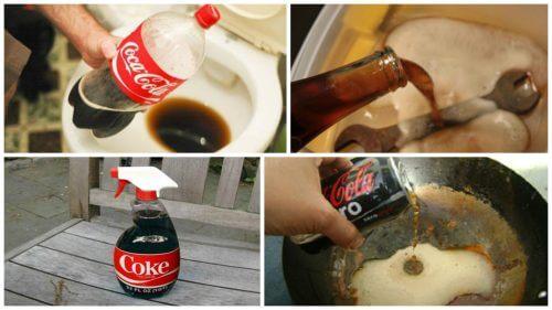 Coca-cola zastosowania w domu