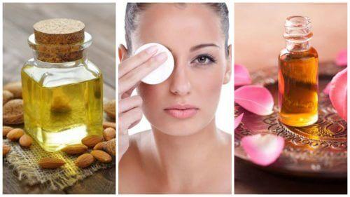 Demakijaż - naturalne olejki jest istotny na cienie pod oczami