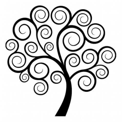 Drzewo i jego rysunek pozwalający uspokoić umysł