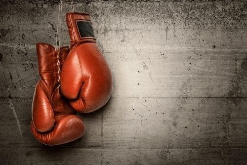 Zawieszone rękawice bokserskie