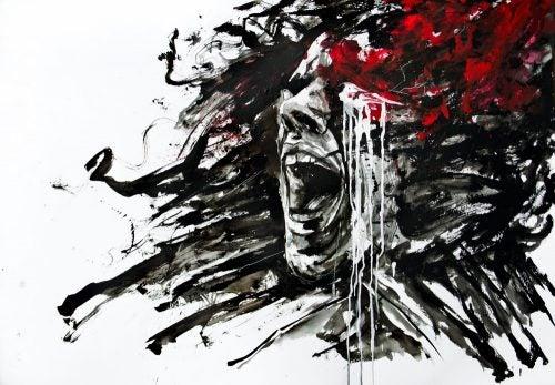 Szkic krzyczącej kobiety