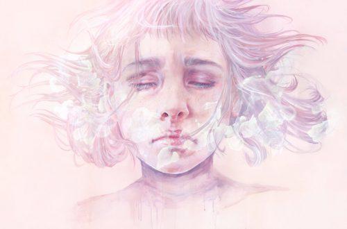 Wizerunek smutnej dziewczyny
