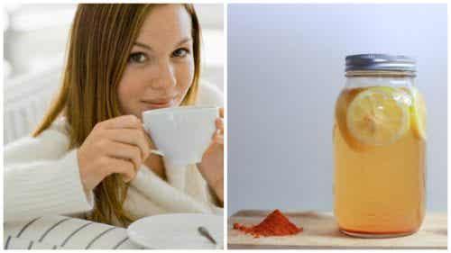 Woda z kurkumą i cytryną  - pij na zdrowie!