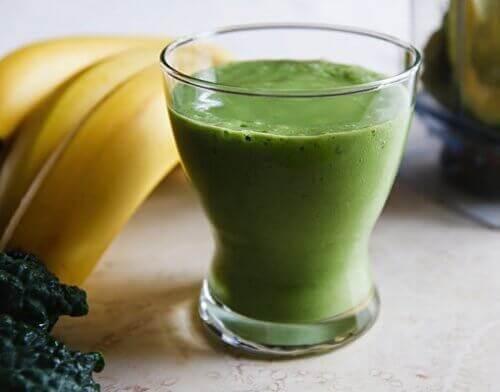 Zielone smoothie z bananem