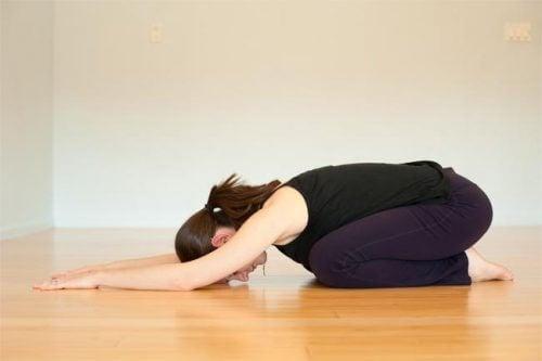 Joga - balasana na Ból pleców