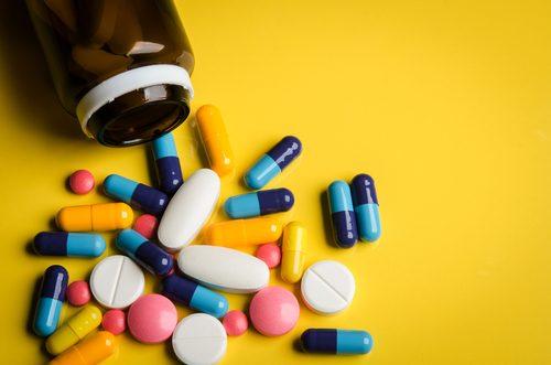 rozsypane tabletki