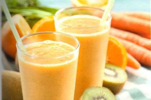 sok z pomarańczy i kiwi