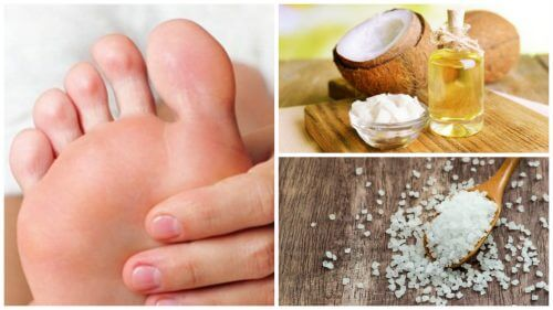 Stopy - jak zrobić peeling z oleju kokosowego i soli