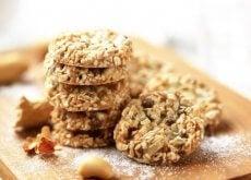 Ciasteczka z kokosa, owsa i nasion