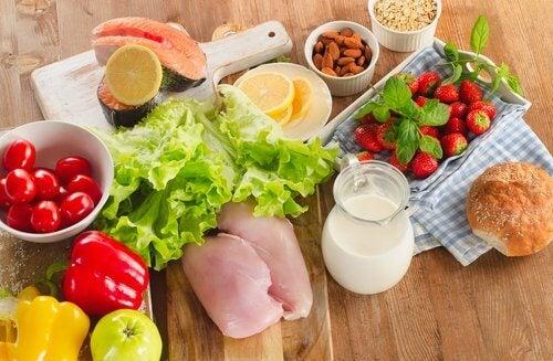 Produkty składające się na zdrową dietę