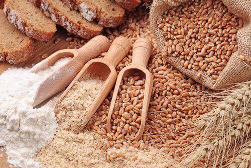 Ziarna zbóż i mąka