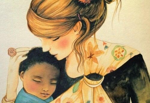 dzieci potrzebują naszego przytulenia by czuć się częścią świata