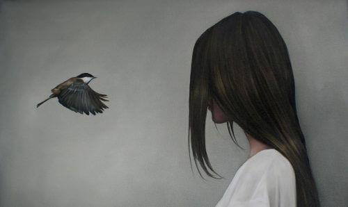Kobieta i ptak/ Puste osoby dołują