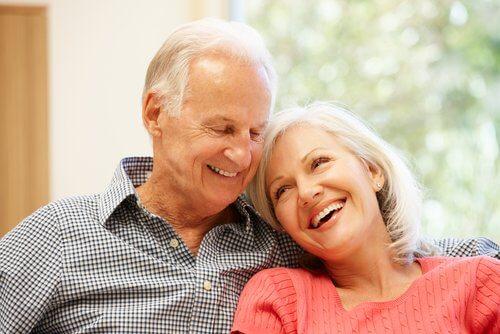 Starzejemy się wspolnie. Para starszych osob