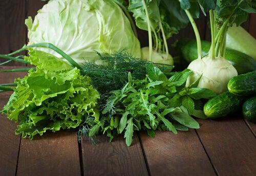 Zielone warzywa mogą być pomocne na rozstępy
