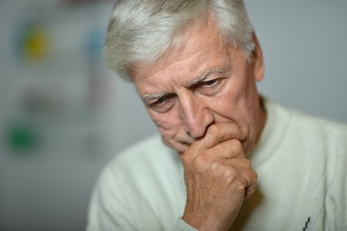 Starszy człowiek i depresja