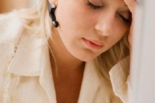 zmęczona kobieta