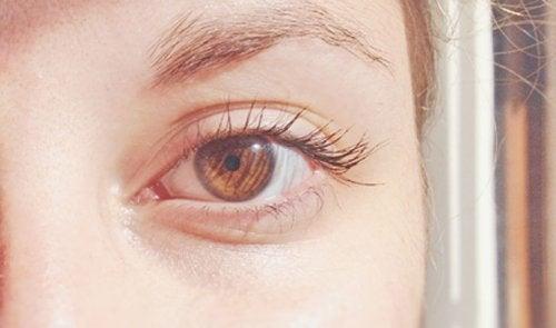 brązowe oko