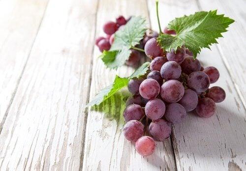 świeże winogrona - wplyw winogron na zdrowie