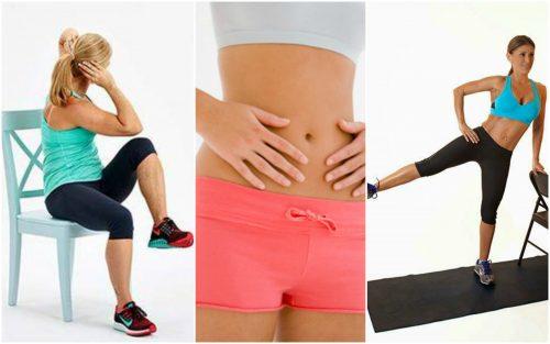 Ćwiczenia na płaski brzuch bez wstawania z krzesła