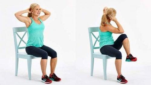 Ćwiczenia na krześle